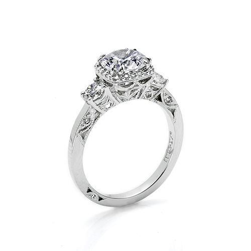 Tacori Platinum Dantela Engagement Ring 2623RDPT Alternative View 1