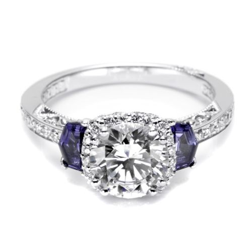Tacori Dantela 18 Karat Engagement Ring 2628RDSP Alternative View 2
