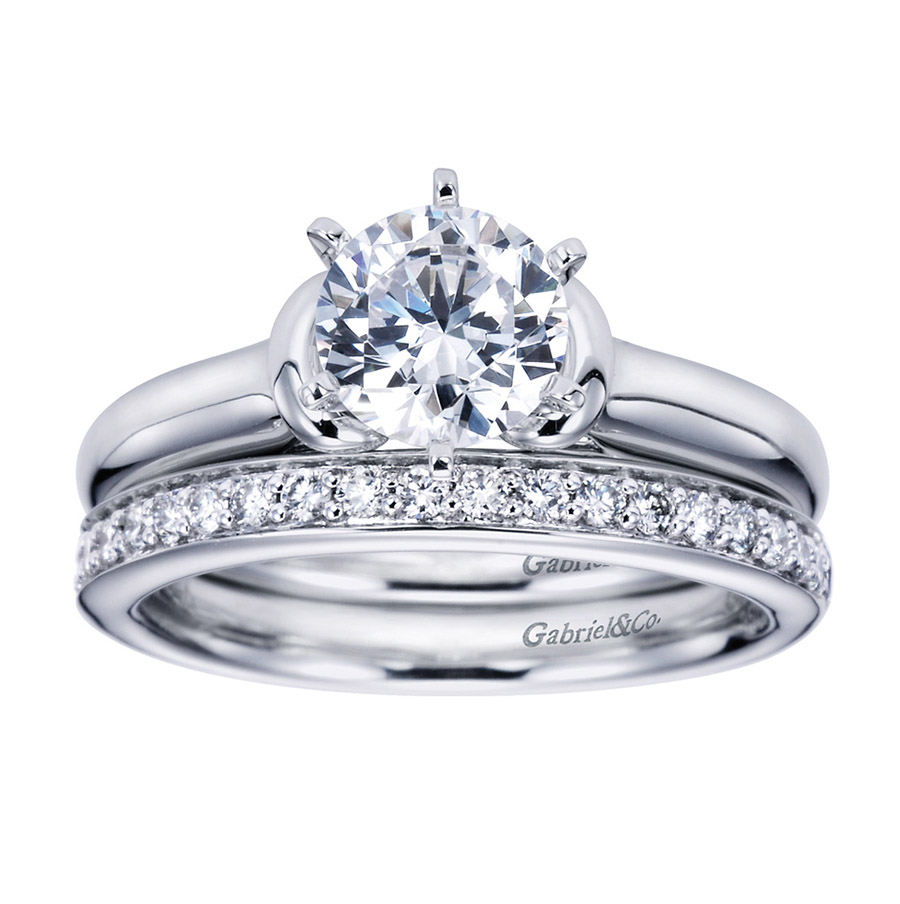 Gabriel Platinum Contemporary Engagement Ring ER6573PTJJJ Alternative View 3