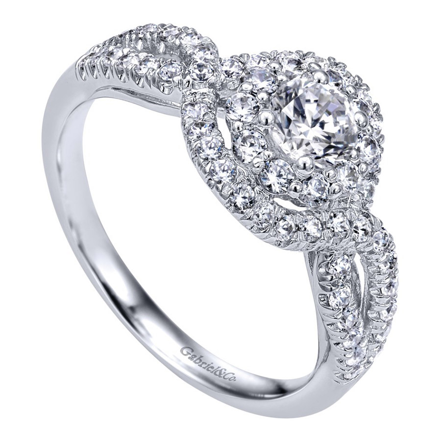 Gabriel 14 Karat Contemporary Engagement Ring ER910158W44JJ Alternative View 2