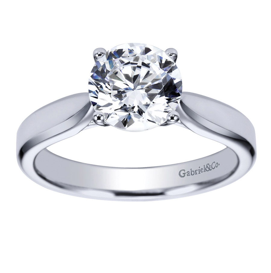 Gabriel Platinum Contemporary Engagement Ring ER6593PTJJJ Alternative View 4