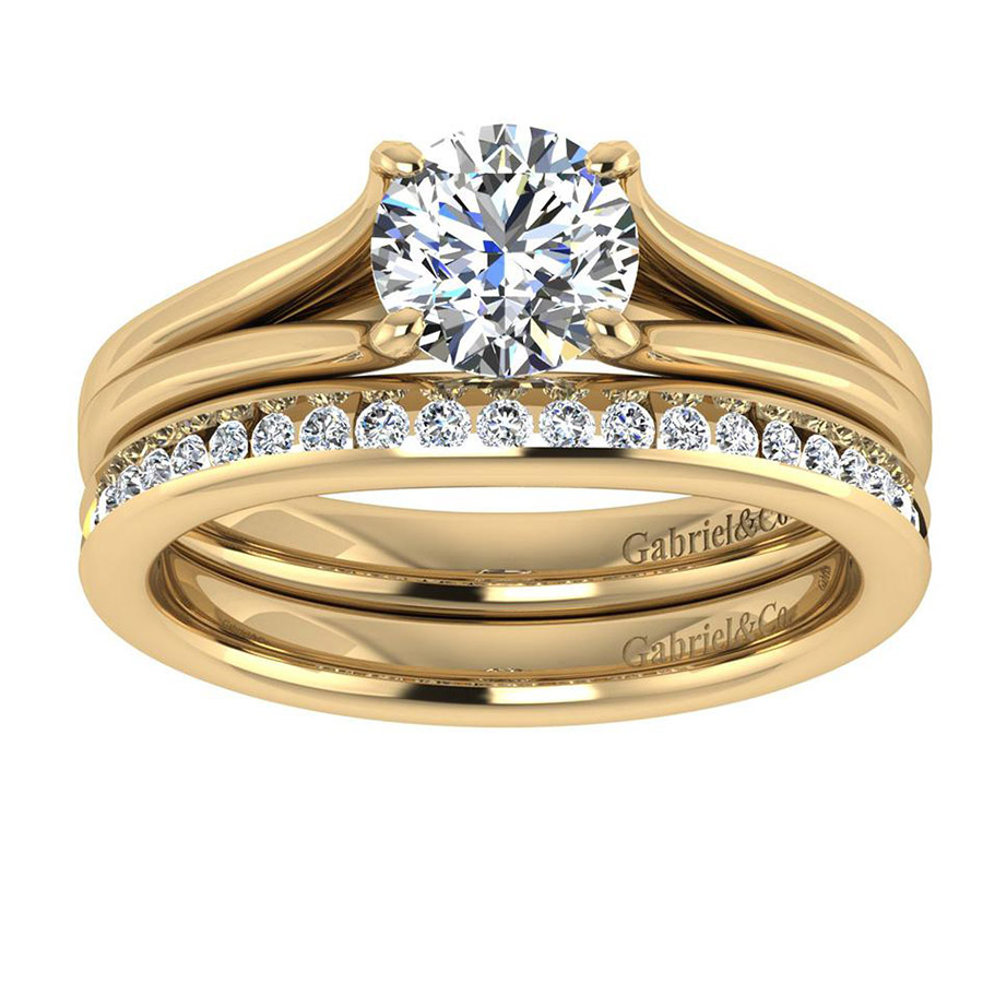 Gabriel 14 Karat Contemporary Wedding Band WB7516Y44JJ Alternative View 3