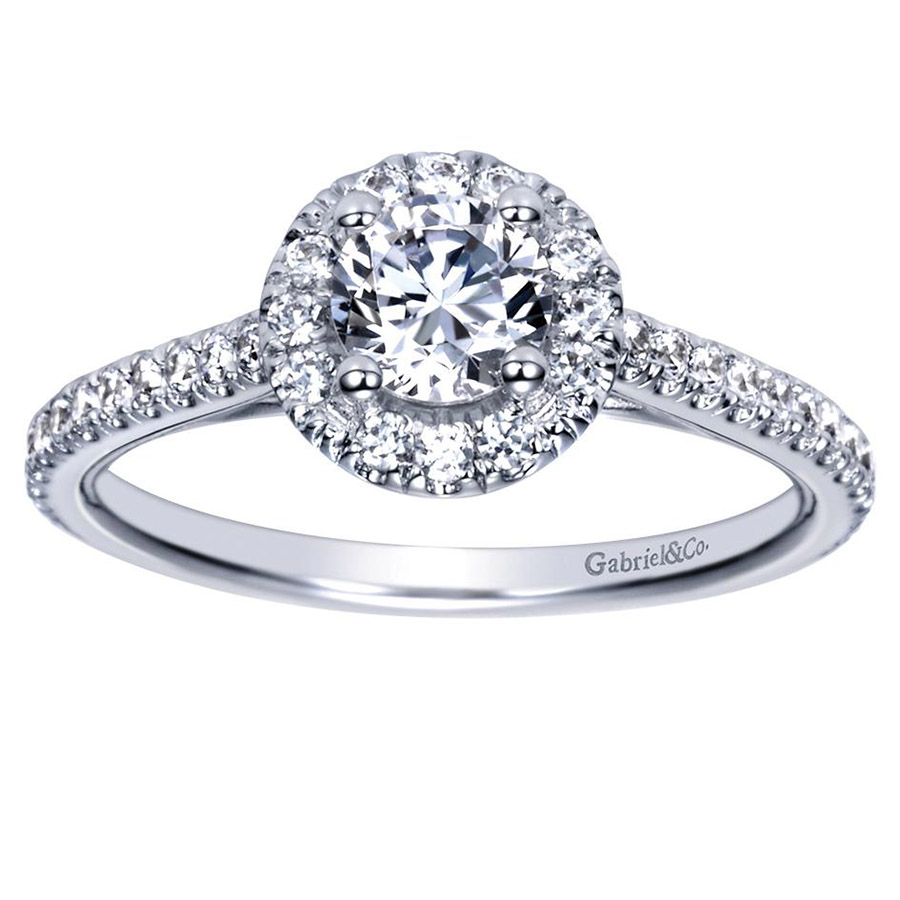 Gabriel 14 Karat Contemporary Engagement Ring ER98523W44JJ Alternative View 4
