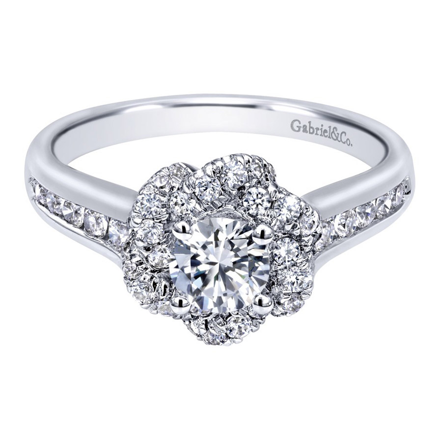 Gabriel 14 Karat Contemporary Engagement Ring ER910138W44JJ