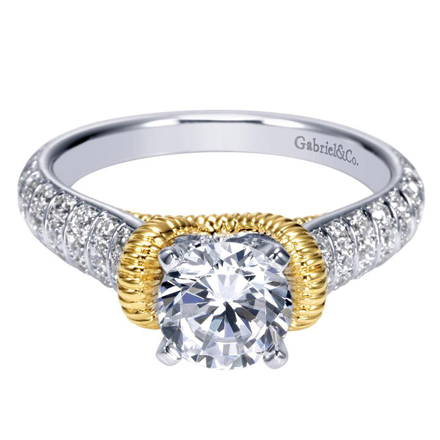 Gabriel 14 Karat Contemporary Engagement Ring ER9533M44JJ