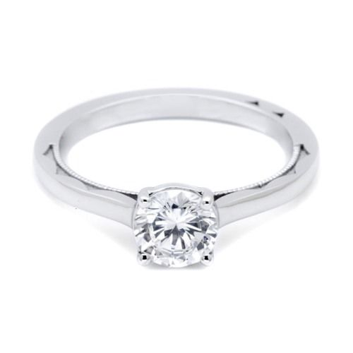 Simply Tacori Platinum Diamond Solitaire Engagement Ring 48RD6 Alternative View 2