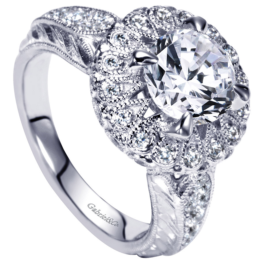 Gabriel 14 Karat Victorian Engagement Ring ER9068W83JJ Alternative View 2