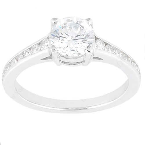 Taryn Collection Platinum Diamond Engagement Ring TQD 8388