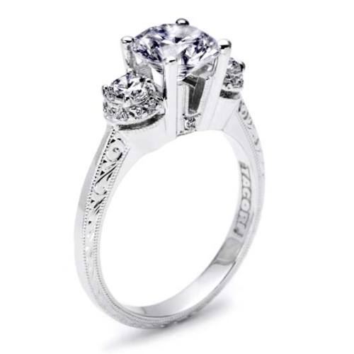 Tacori Hand Engraved Platinum Engagement Ring HT2339 Alternative View 1