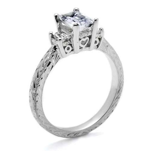 Tacori 18 Karat Hand Engraved Engagement Ring HT2199 Alternative View 1