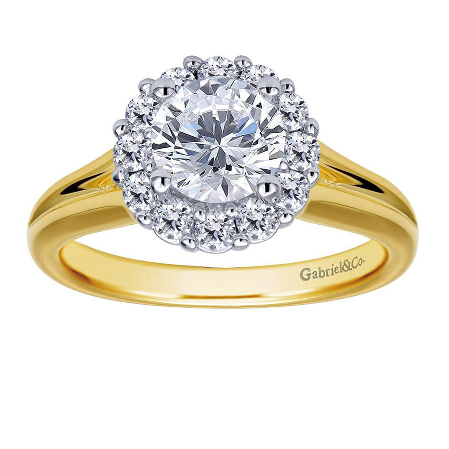 Gabriel 14 Karat Contemporary Engagement Ring ER6941M44JJ Alternative View 3