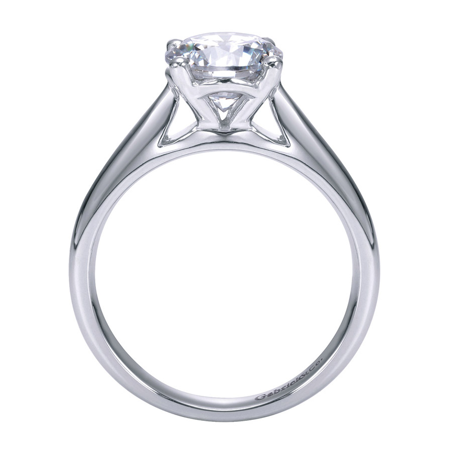 Gabriel Platinum Contemporary Engagement Ring ER6659PTJJJ Alternative View 1