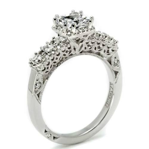 Tacori Dantela 18 Karat Engagement Ring 2629SQ Alternative View 1