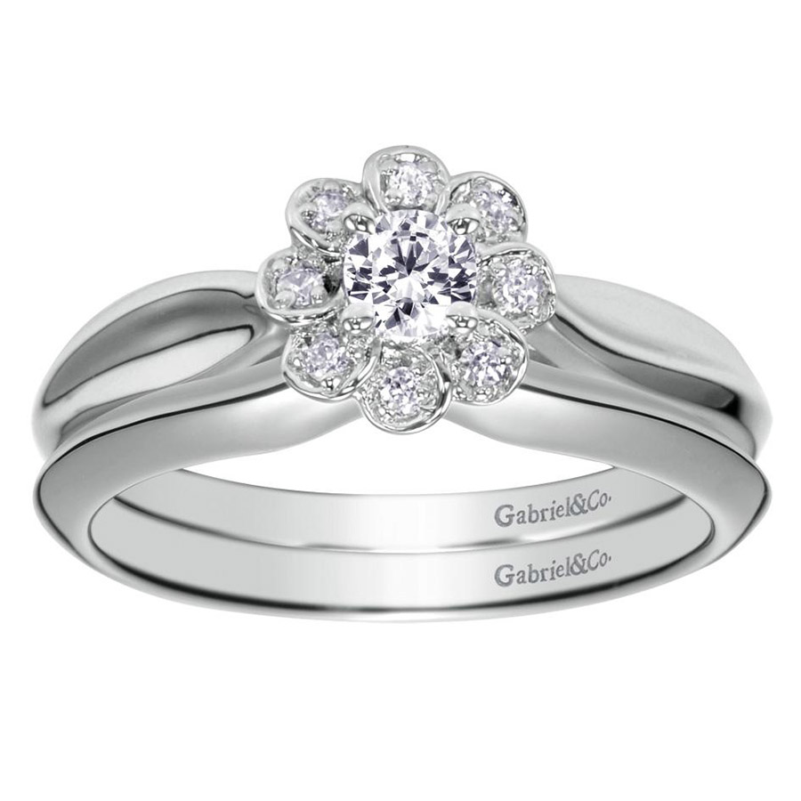 Gabriel 14 Karat Contemporary Engagement Ring ER98421W44JJ Alternative View 3