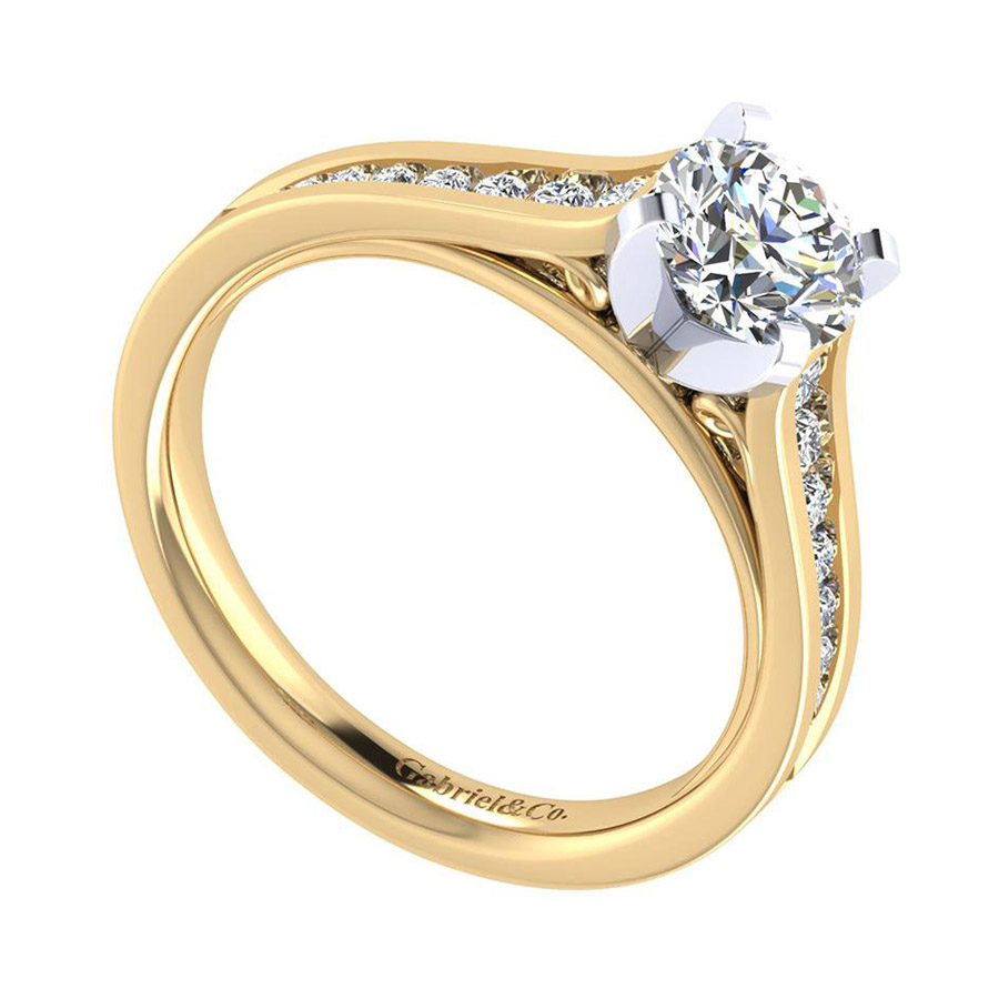 Gabriel 14 Karat Contemporary Engagement Ring ER8223M44JJ Alternative View 2