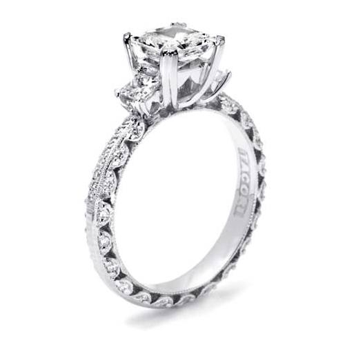 Tacori Crescent Platinum Engagement Ring HT2368P Alternative View 1