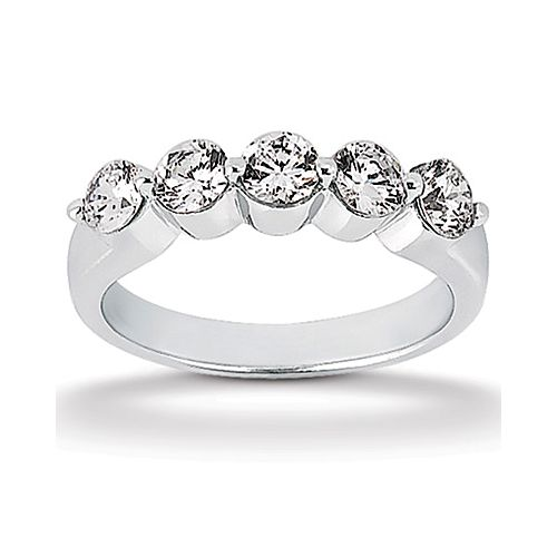 Diamond Five Stone Band 14 Karat Taryn Collection TQD B-8522