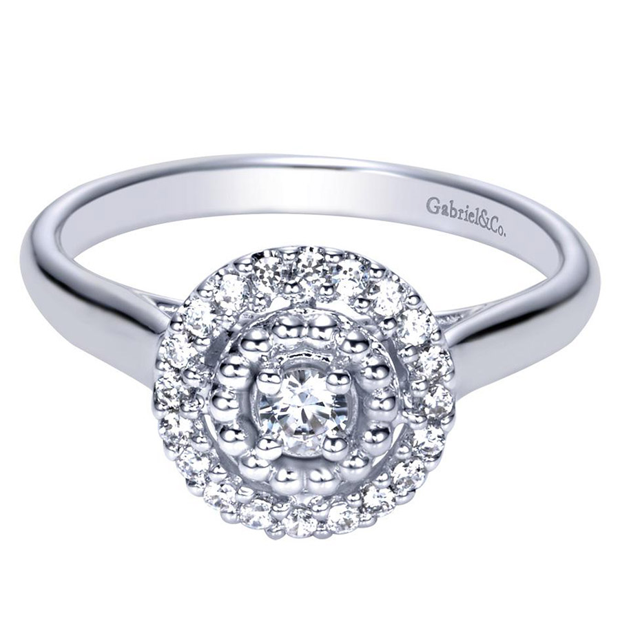 Gabriel 14 Karat Contemporary Engagement Ring ER98428W44JJ