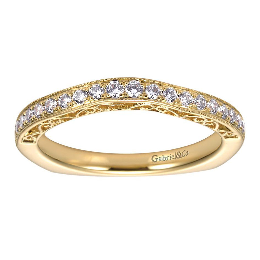 Gabriel 14 Karat Contemporary Wedding Band WB6101Y44JJ Alternative View 4