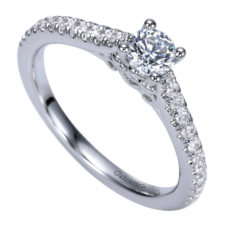 Gabriel 14 Karat Contemporary Engagement Ring ER98574W44JJ Alternative View 2