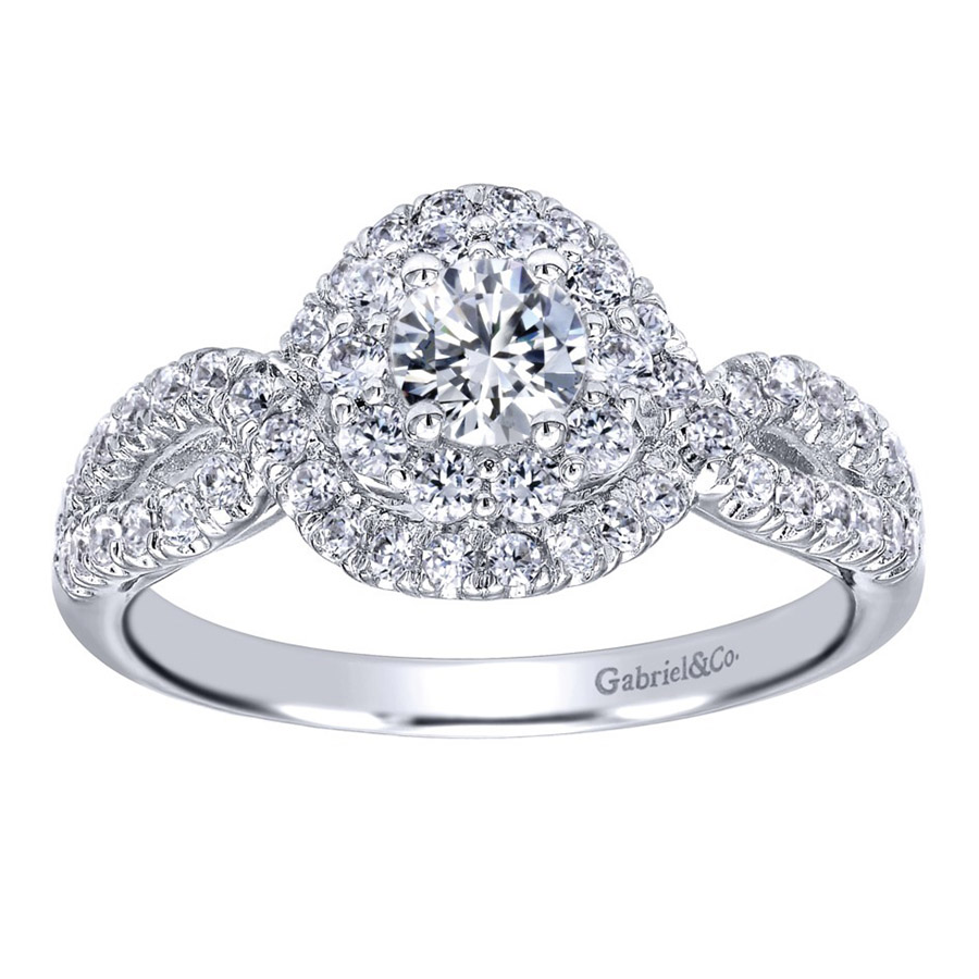 Gabriel 14 Karat Contemporary Engagement Ring ER910158W44JJ Alternative View 4