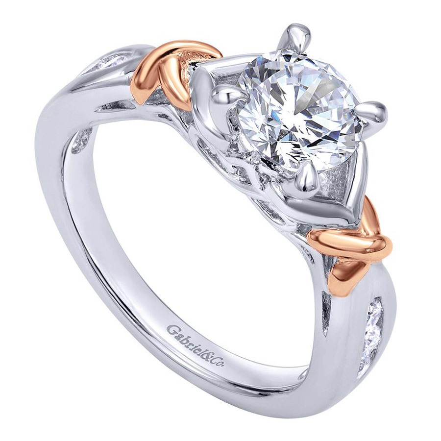 Gabriel 14 Karat Contemporary Engagement Ring ER10456T44JJ Alternative View 2