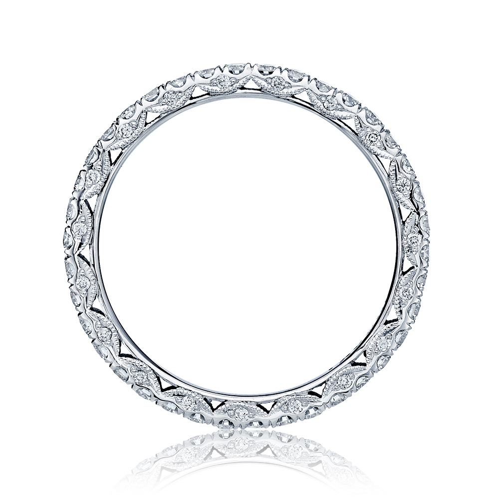 HT2545B Platinum Tacori Classic Crescent Diamond Wedding Ring Alternative View 1