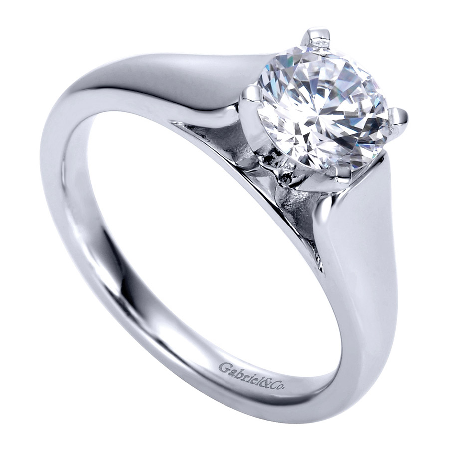 Gabriel Platinum Contemporary Engagement Ring ER8138PTJJJ Alternative View 2