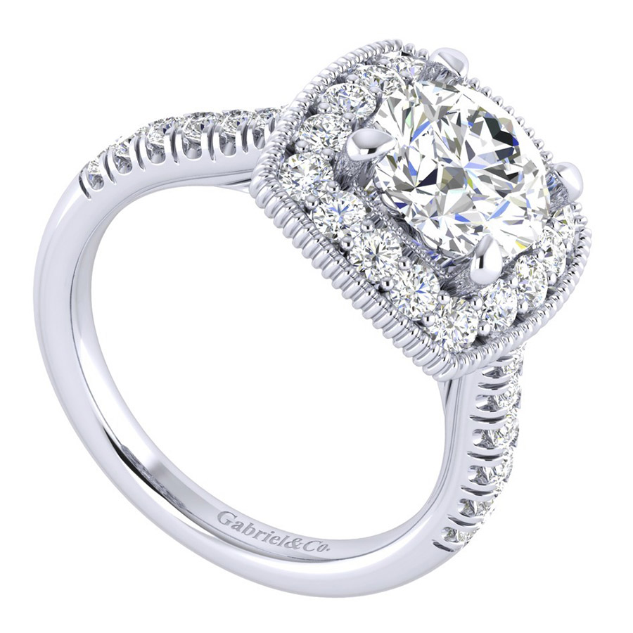 Gabriel 14 Karat Perfect Match Engagement Ring ER039C8ABW44JJ Alternative View 2