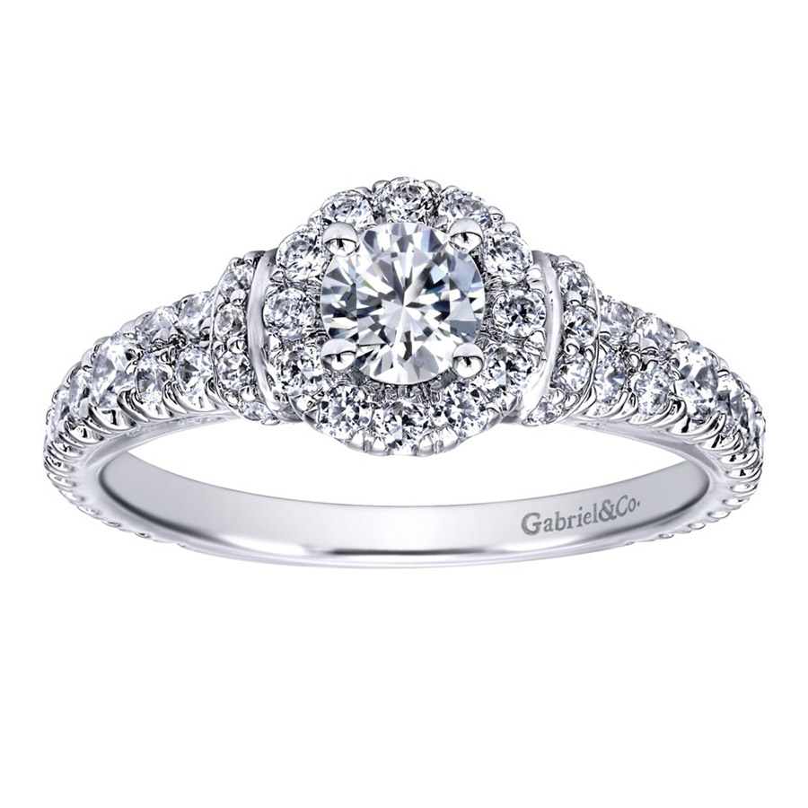 Gabriel 14 Karat Contemporary Engagement Ring ER910219W44JJ Alternative View 4