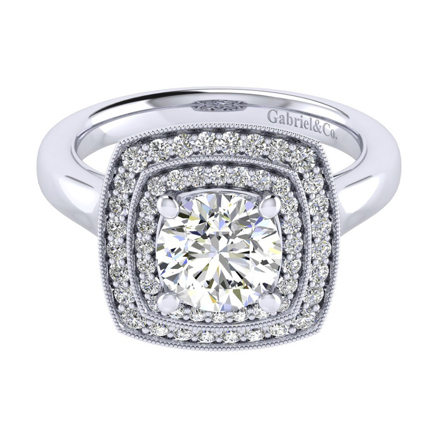 Gabriel 14 Karat Perfect Match Engagement Ring ER009C6AGW44JJ