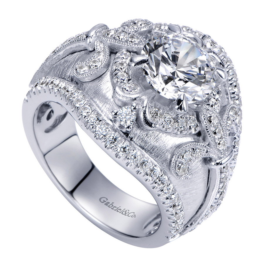 Gabriel 18 Karat Contemporary Engagement Ring ER8755W83JJ