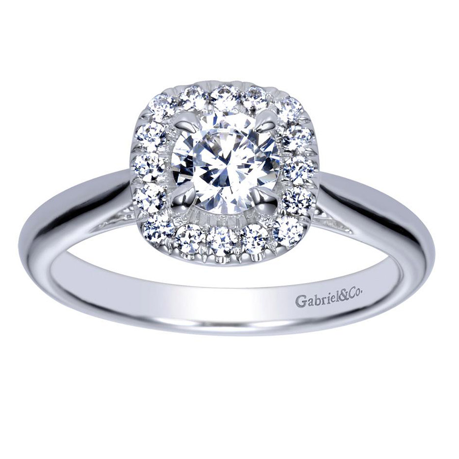 Gabriel 14 Karat Contemporary Engagement Ring ER98706W44JJ Alternative View 4