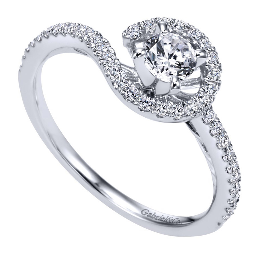 Gabriel 14 Karat Contemporary Engagement Ring ER97718W44JJ Alternative View 2