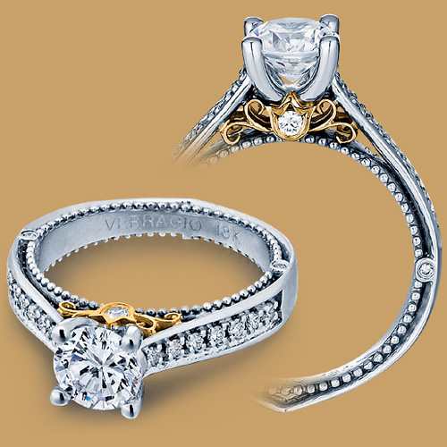 Verragio Venetian 5044 Platinum Engagement Ring Alternative View 1