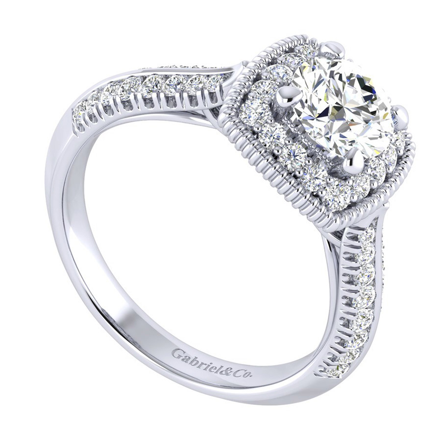 Gabriel 14 Karat Perfect Match Engagement Ring ER002B3ABW44JJ Alternative View 2