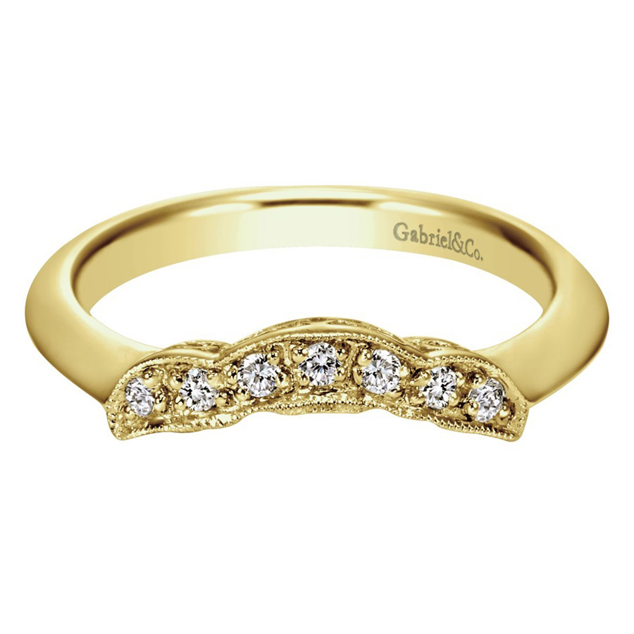 Gabriel 14 Karat Contemporary Wedding Band WB3819Y44JJ