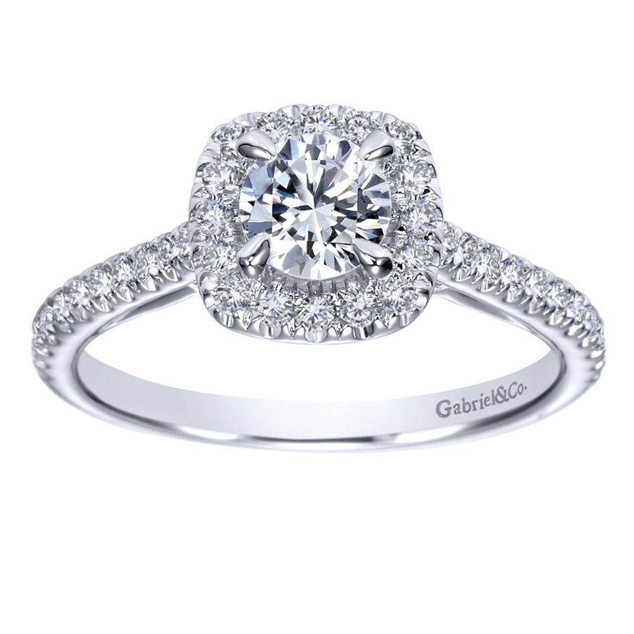 Gabriel 14 Karat Contemporary Engagement Ring ER98520W44JJ Alternative View 4