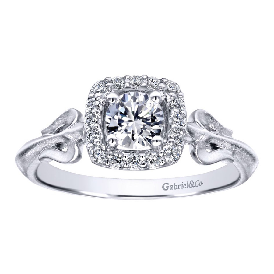 Gabriel 14 Karat Contemporary Engagement Ring ER911729R0W44JJ Alternative View 4