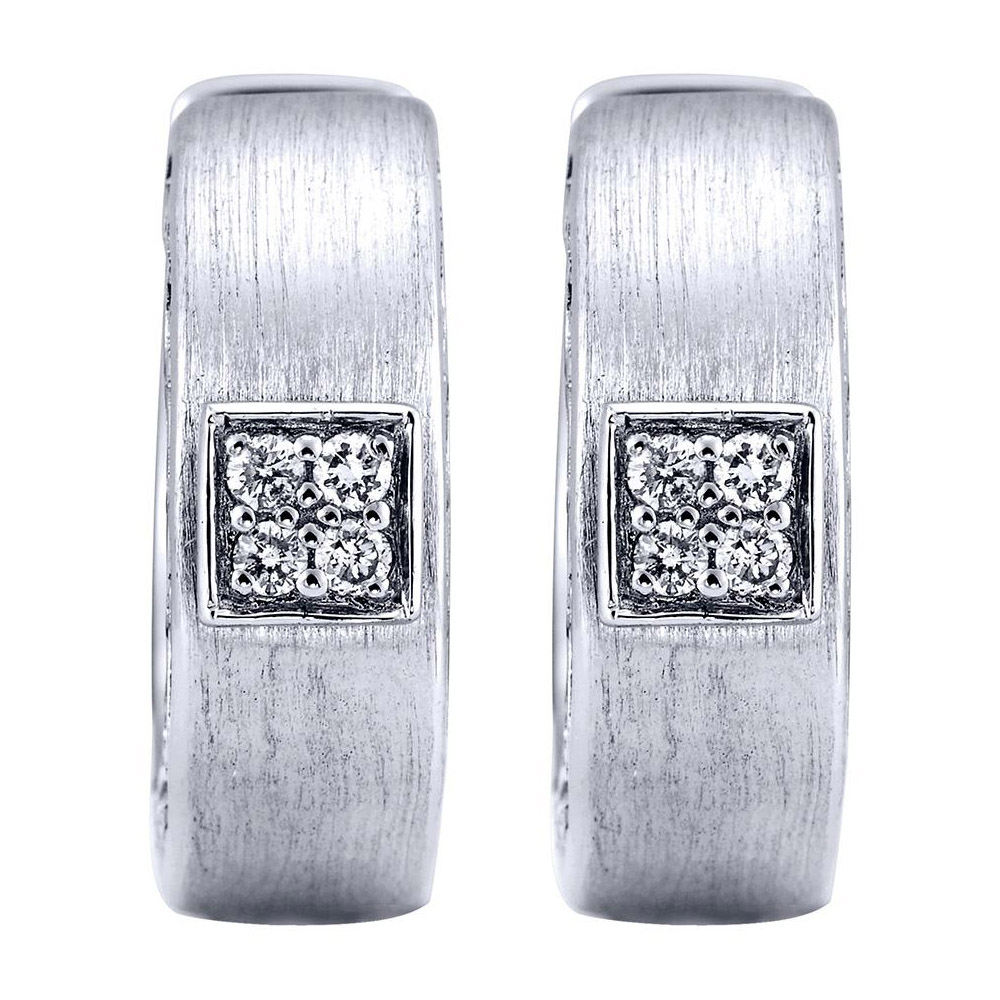 65d366d13 Gabriel Fashion Silver Huggies Huggie Earrings EG10964SV5JJ | TQ Diamonds