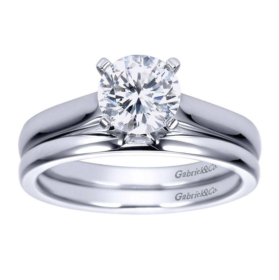Gabriel Platinum Contemporary Engagement Ring ER8076PTJJJ Alternative View 3