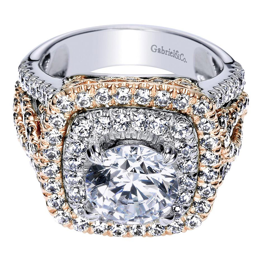 Gabriel 18 Karat Contemporary Engagement Ring ER8467T83JJ