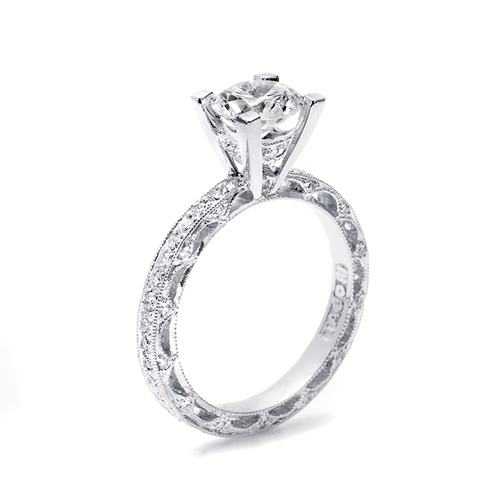 Tacori Crescent Platinum Engagement Ring HT2511A Alternative View 1
