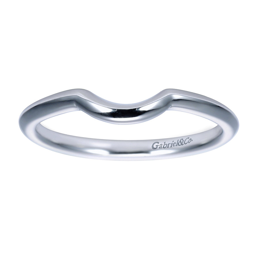 Gabriel Platinum Contemporary Wedding Band WB7730PTJJJ Alternative View 4