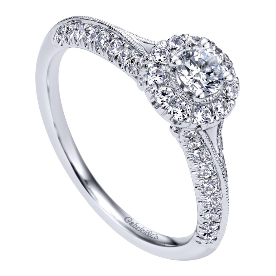 Gabriel 14 Karat Contemporary Engagement Ring ER910936W44JJ Alternative View 2