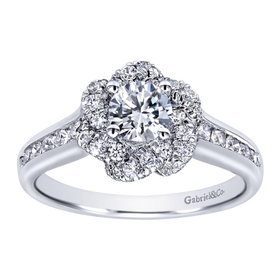 Gabriel 14 Karat Contemporary Engagement Ring ER910138W44JJ Alternative View 4