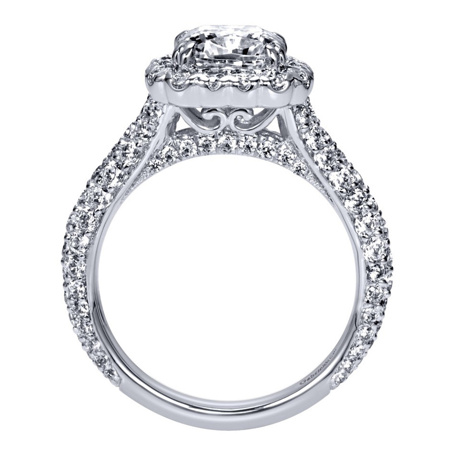Gabriel 18 Karat Contemporary Engagement Ring ER8304C6W83JJ Alternative View 1