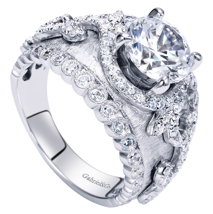 Gabriel 18 Karat Victorian Engagement Ring ER8762W83JJ Alternative View 2