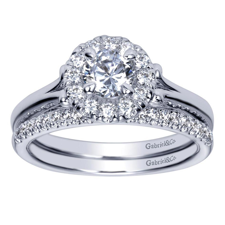 Gabriel 14 Karat Contemporary Engagement Ring ER98657W44JJ Alternative View 3