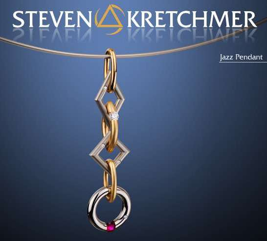 Kretchmer 18 Karat Jazz Tension Set Pendant Alternative View 1